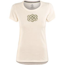 Sherpa Endless Knot t-shirt Dames wit